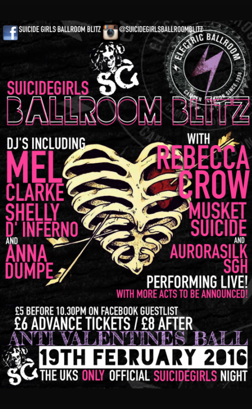 Suicide Girls: Ballroom Blitz! Anti Valentines Ball!