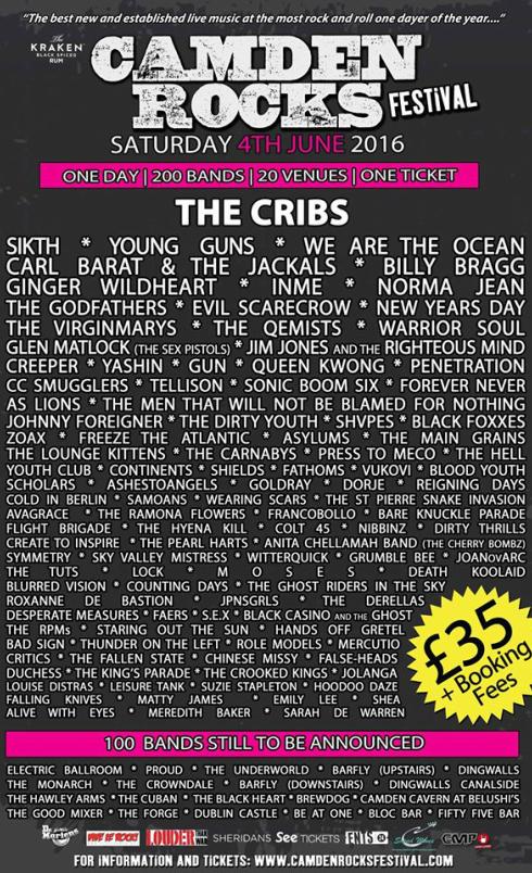 Camden Rocks Festival with The Cribs