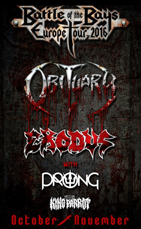 Obituary + Exodus + Prong + King Parrot