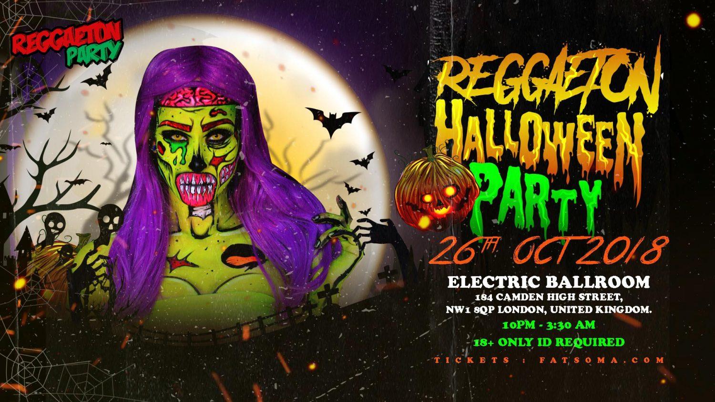 reggaeton halloween party