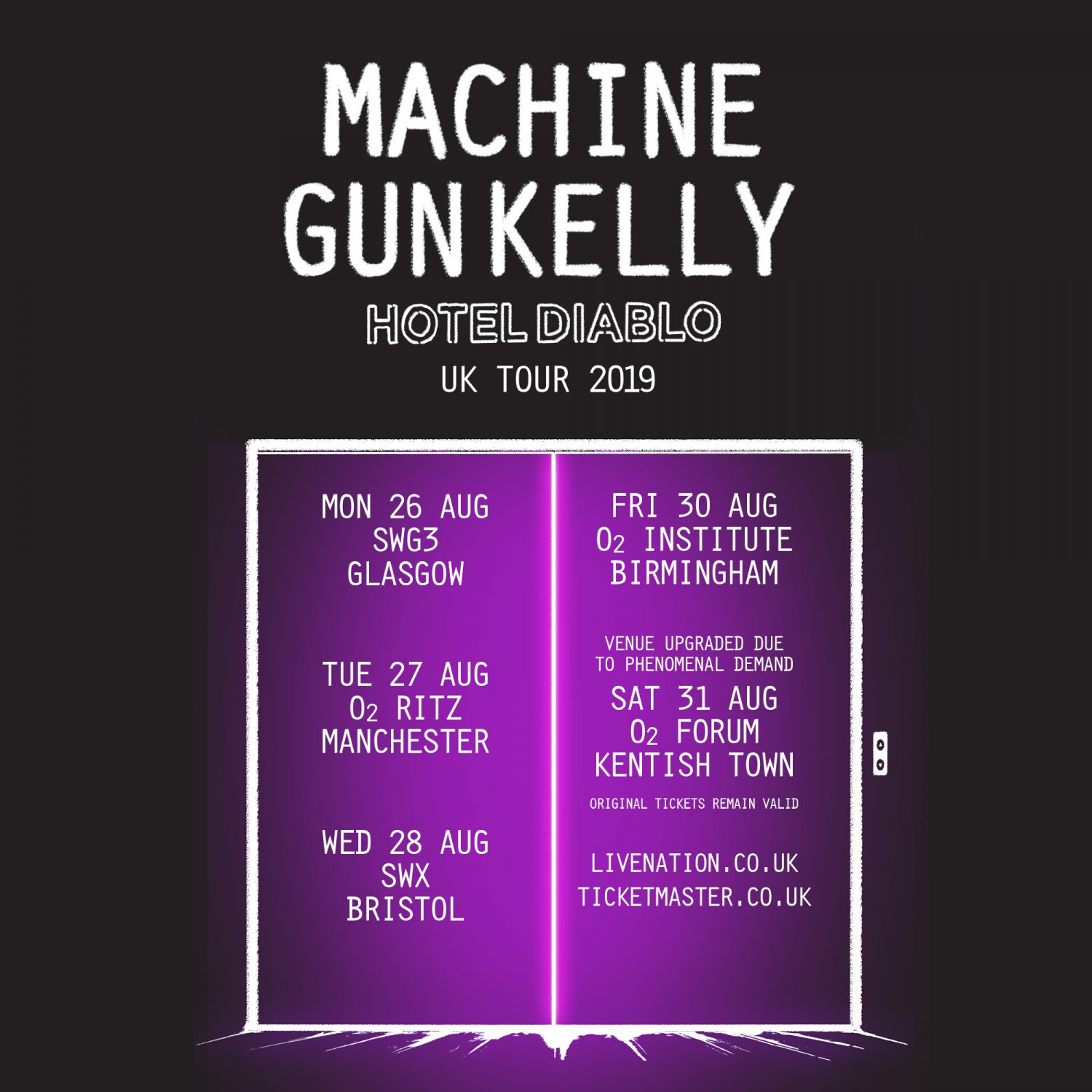 Venue Change Machine Gun Kelly Electric Ballroom Camden Iconic